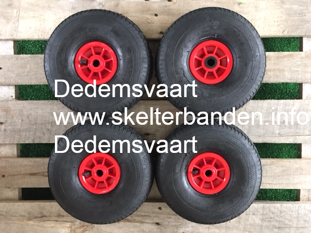 Set skelterwielen 4.00-4 S301