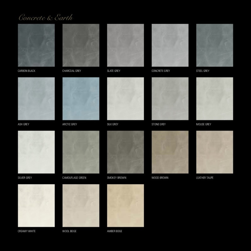 Sample pakket Concrete en Earth van Concreto
