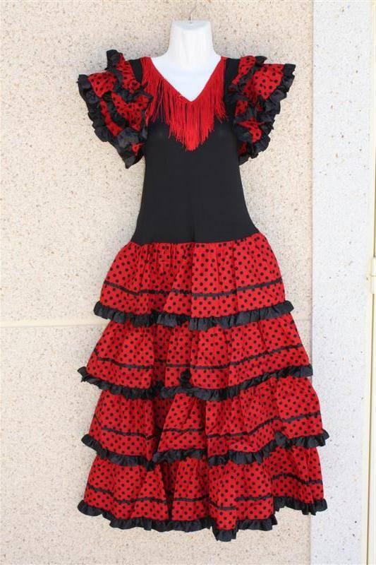 Verkleedjurk Rood nl Laquito Dames Spaanse Zwart vbYgf76y