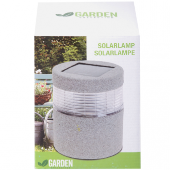 6 X SOLARLAMP STEEN ROND