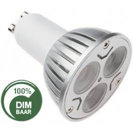 MR16 - GU10 - 3X2W - VERVANGT 35 WATT - TE DIMMEN