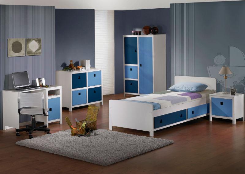 Slaapkamer Blauw: Wp content uploads slaapkamer blauw grijs interieur ...