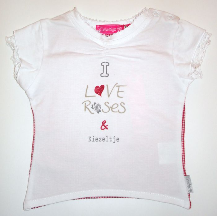 "T-shirt ""I love roses"" mt 74, merk Kiezeltje, for girls"
