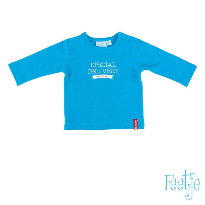 "aqua t-shirt l.m. ""My Life"", merk Feetje, for boys"