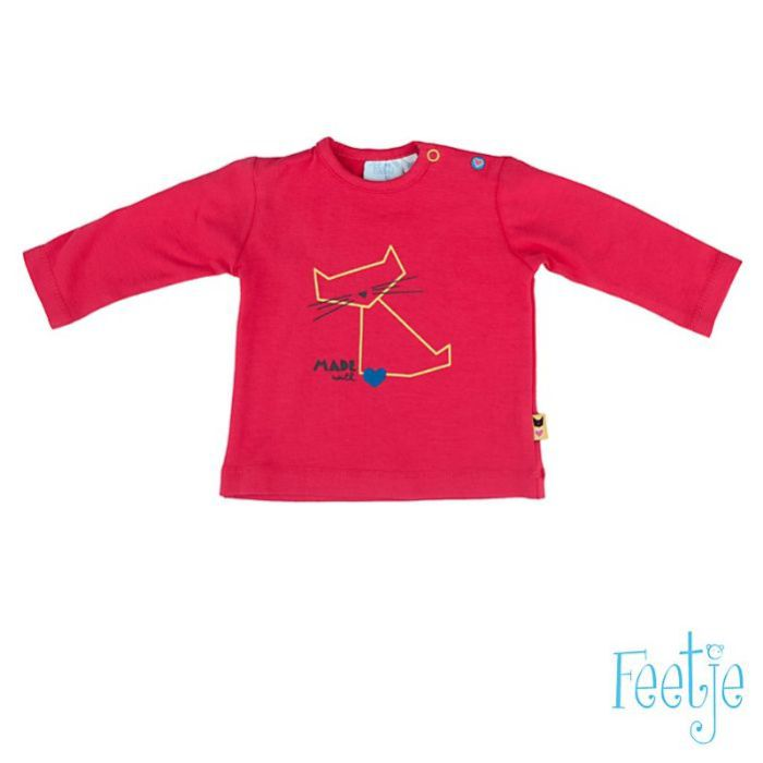 "t-shirt l.m ""kat Sweet Berry"" mt 56, Feetje, for girls"