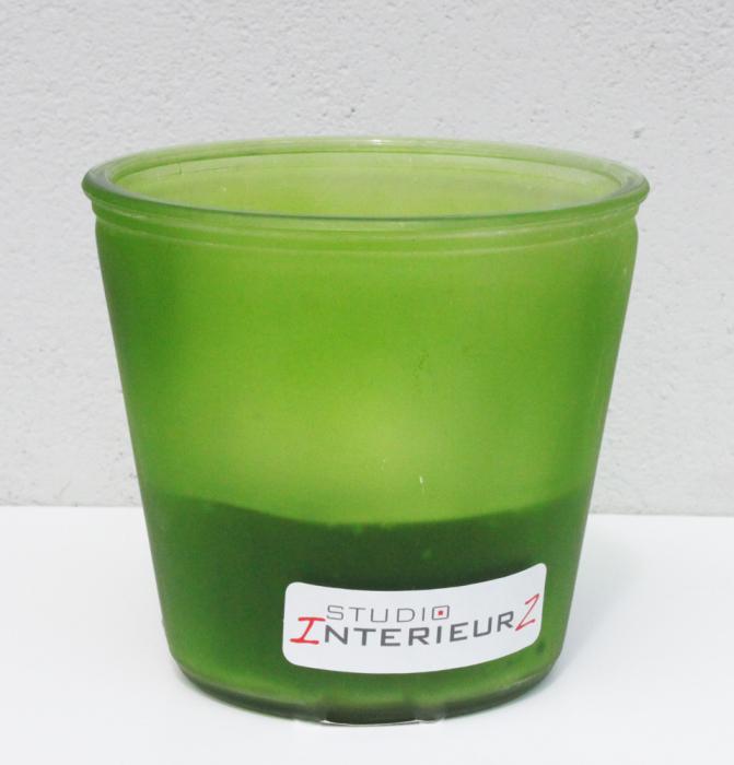 Windlicht glas groen Interieurzshop