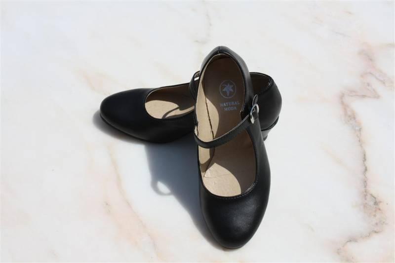 zwarte schoenen met hakje
